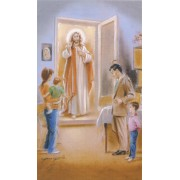"""Holy card of Jesus at the door cm.7x12- 2 3/4""""x 4 3/4"""""""