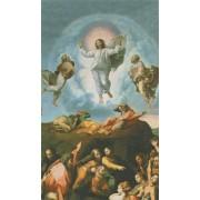 "Holy card of transfiguration cm.7x12- 2 3/4""x 4 3/4"""