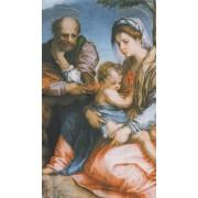 "Holy card with a Family cm.7x12- 2 3/4""x 4 3/4"""