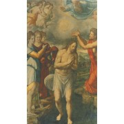 """Holy card of Baptism cm.7x12- 2 3/4""""x 4 3/4"""""""
