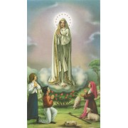 "Holy card of Fatima cm.7x12- 2 3/4""x 4 3/4"""