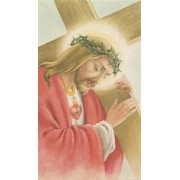 """Holy card of Jesus and the Cross cm.7x12- 2 3/4""""x 4 3/4"""""""