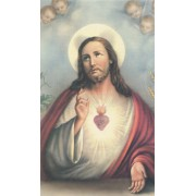 """Holy card of the Sacred Heart of Jesus cm.7x12- 2 3/4""""x 4 3/4"""""""