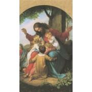 """Holy card of Jesus with Children cm.7x12- 2 3/4""""x 4 3/4"""""""