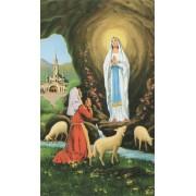 "Holy card of Lourdes and St.Bernard cm.7x12- 2 3/4""x 4 3/4"""