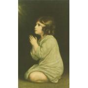 "Holy card of Girl Praying cm.7x12- 2 3/4""x 4 3/4"""