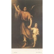 "Holy card of Guardian Angel cm.7x12- 2 3/4""x 4 3/4"""