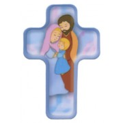 "Cartoon Holy Family Cross Fridge Magnet cm.4x6 - 2 1/2""x 4 1/4"""