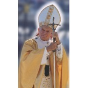 "Holy card of the Pope John Paul II cm.7x12- 2 3/4""x 4 3/4"""