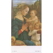"""Holy card of Lippi and Children cm.7x12- 2 3/4""""x 4 3/4"""""""