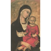 "Holy card of Mother and Child cm.7x12- 2 3/4""x 4 3/4"""