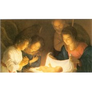 "Holy card of Nativity cm.7x12- 2 3/4""x 4 3/4"""