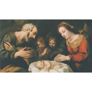 "Holy card of Nativity cm.7x12- 2 3/4""x 4 3/4"""