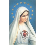 "Holy card of Immaculate Heart of Mary cm.7x12- 2 3/4""x 4 3/4"""