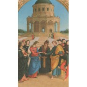 "Holy card of the Wedding cm.7x12- 2 3/4""x 4 3/4"""