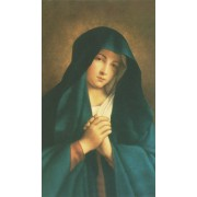 "Holy card of Our Lady of Sorrow cm.7x12- 2 3/4""x 4 3/4"""