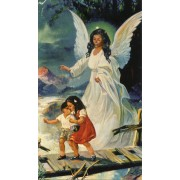 "Holy card of the Guardian Angel cm.7x12- 2 3/4""x 4 3/4"""