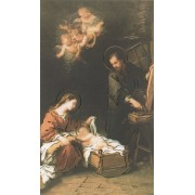 "Holy card of Nativity with Gold Foil cm.7x12- 2 3/4""x 4 3/4"""