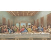 "Holy card of the Last Supper cm.7x12- 2 3/4""x 4 3/4"""