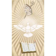 "Holy card of the Holy Spirit cm.7x12- 2 3/4""x 4 3/4"""