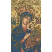 "Holy card of Icon Perpetual Help cm.7x12- 2 3/4""x 4 3/4"""