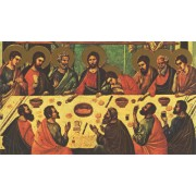 "Holy card of Icon Last Supper cm.7x12- 2 3/4""x 4 3/4"""