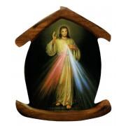 """Aimant en forme de maison avec la Divine Miséricorde cm.5.5x6.6 - 2 1/4 """"x 2 5/8"""""""