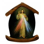 "Divine Mercy House Shaped Magnet cm.5.5x6.6 - 2 1/4""x 2 5/8"""