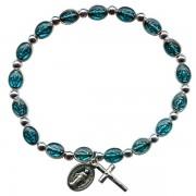 Miraculous Steel Bracelet with Blue Enamel mm.6