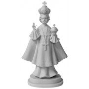 Infant of Prague Composite Marble Statue in White cm.28.5 - 11 1/4""