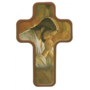 "Jesus Praying Cross Fridge Magnet cm.4x6 - 4 1/4""x 2 1/2"""