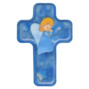 "Guardian Angel Praying Cross Fridge Magnet cm.4x6 - 4 1/4""x 2 1/2"""