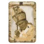 "Pope John Paul II Scroll Fridge Magnet cm.4x6 - 4 1/4""x 2 1/2"""
