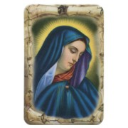 "Our Lady of Sorrows Scroll Fridge Magnet cm.4x6 - 2 1/2""x 4 1/4"""
