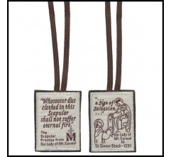 NEW Brown Felt Scapular!