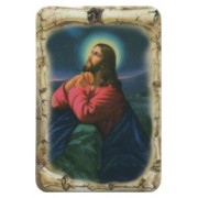 "Jesus Praying Scroll Fridge Magnet cm.4x6 - 2 1/2""x 4 1/4"""
