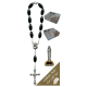 Estatua de coches de Santa Teresita con el rosario década