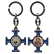 Padre Pio / Mother and Child Keychain cm.4.5 - 1 3/4""