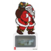 Santa Claus Bookmark with a Luminous Baby Jesus