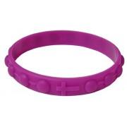 Bracelet chapelet en silicone élastique dans la couleur violette