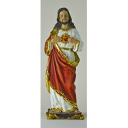 Sacred Heart of Jesus Colour Statue 11 1/4""