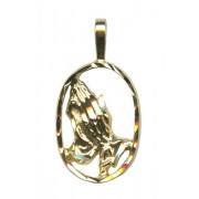 Praying Hands Pendent Gold Plated