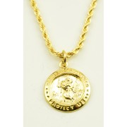 St.Christopher Medal Pendent with Box and Chain