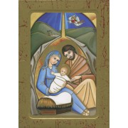 Holy Family Wood Icon Plaque
