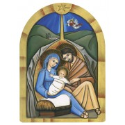 Holy Family Laminated Wood Plaque