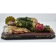 "Sleeping Joseph Polyresin Statue 8"" - 20cm"