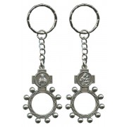 SHJ and Mount Carmel Basco Rosary Ring Keychain