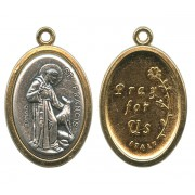 St.Francis / Pray for Us Oval Medal