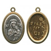 Perpetual Help / Pray for Us Oval Medal