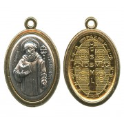 St.Benedict Two Toned Oval Medal